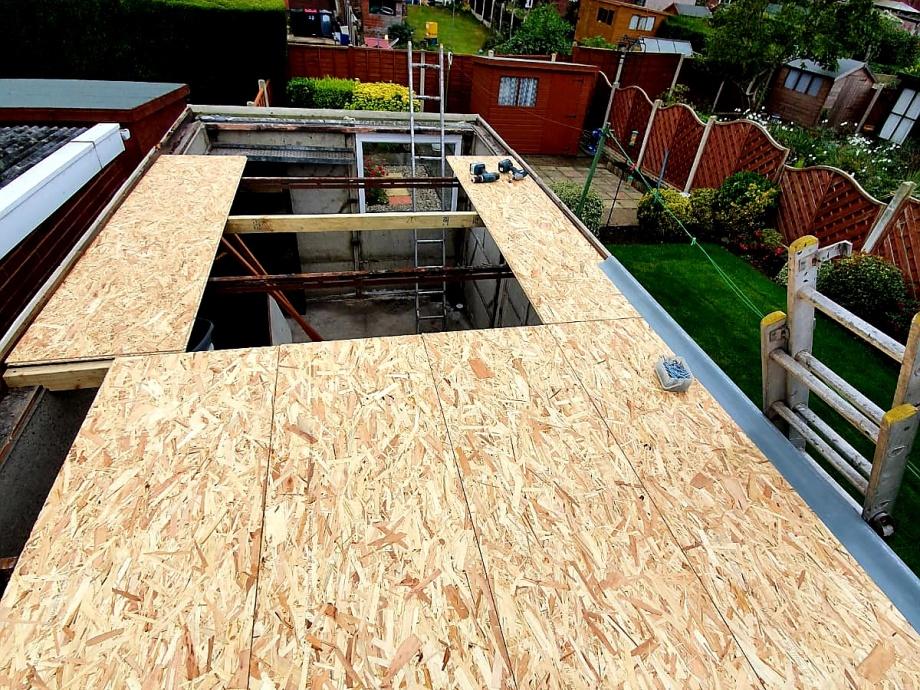 Fibreglass Garage Roof->title Before