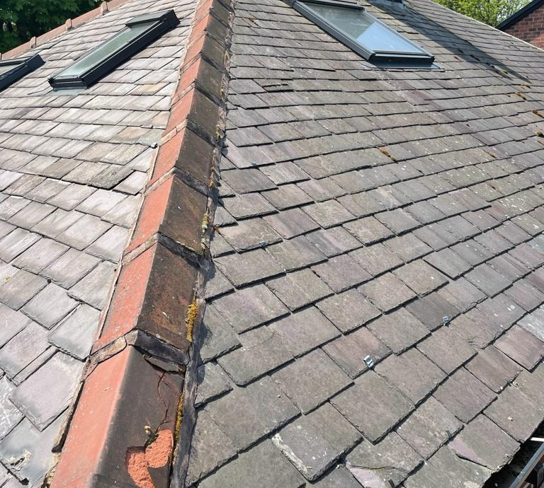 Full Re-Roof - Sheffield, S11->title Before