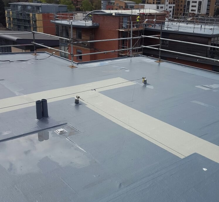 Flat Roof Walkway->title After