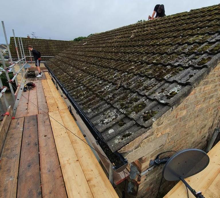 Full Roof Refurbishment - Bradway, Sheffield->title Before